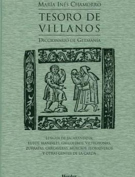 TESORO DE VILLANOS DICCIONARIO DE GERMANIA