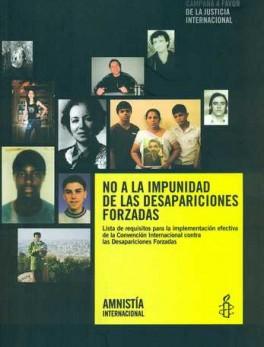 NO A LA IMPUNIDAD DE LAS DESAPARICIONES FORZADAS
