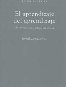 APRENDIZAJE DEL APRENDIZAJE (5ª ED). UNA INTRODUCCION AL ESTUDIO DEL DERECHO, EL