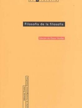 EIAF # 31 FILOSOFIA DE LA FILOSOFIA